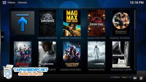 download kodi ung dung choi media