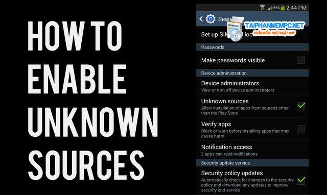 Cách bật nguồn không xác định trên điện thoại Android
