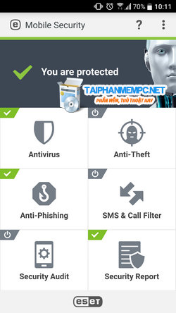 eset mobile security 2018 + license keys premium