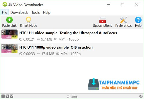 4k video downloader 4.2.1.2185 - tai hang loat video tu youtube 1