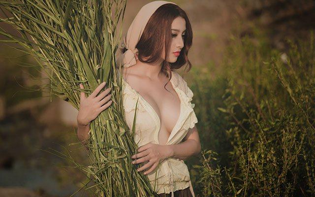 Bộ ảnh thôn nữ làng quê sexy làm mê mẩn người xem