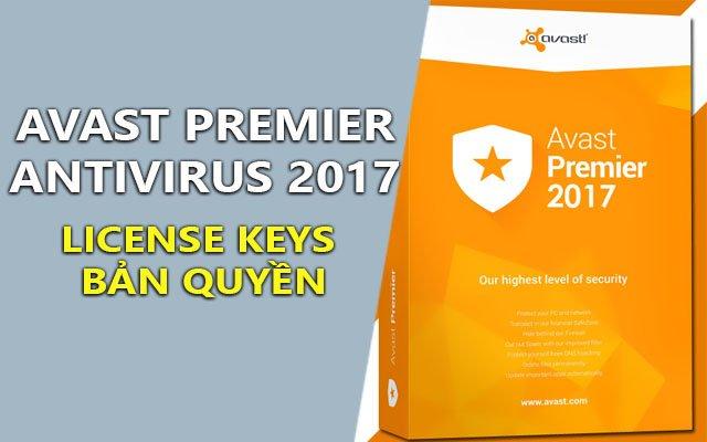 Avast Premier Antivirus 2017 17.4.2294.0 Final + License Keys Bản Quyền