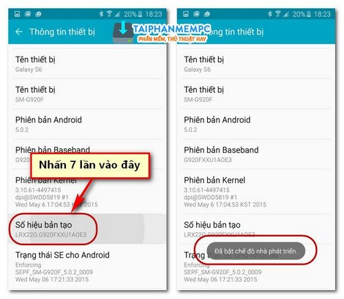 bat che do tuy chon nha phat trien, developer options tren android 2