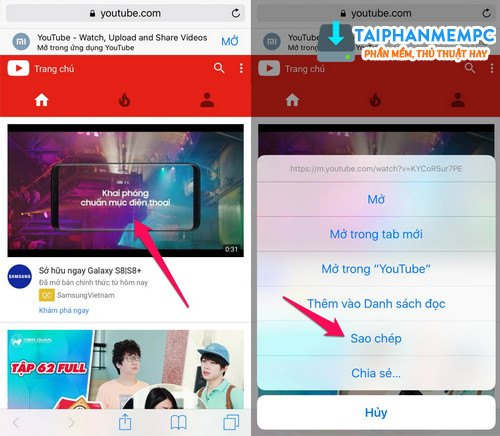 thu thuat tai video youtube ve iphone, ipad khong can jailbreak may 3