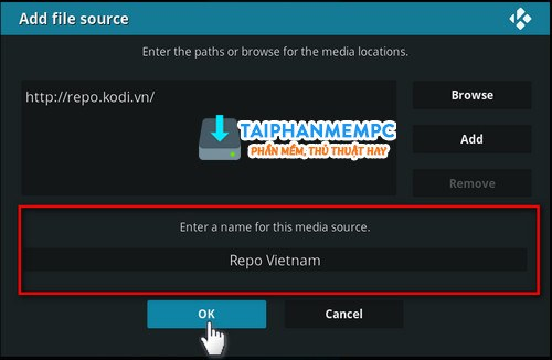 cach them source repository de cai add-ons tren kodi 17 6