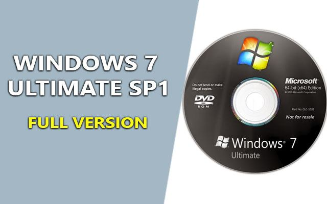 Windows 7 Ultimate SP1 ISO 32, 64bit bản quyền full version