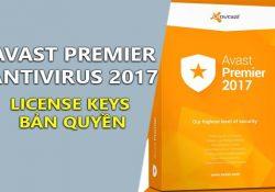 Avast Premier Antivirus 2017 17.5.2302 Final + License Keys Bản Quyền