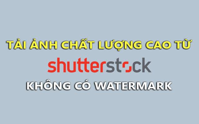 Mẹo tải ảnh từ ShutterStock chất lượng cao không có watermark