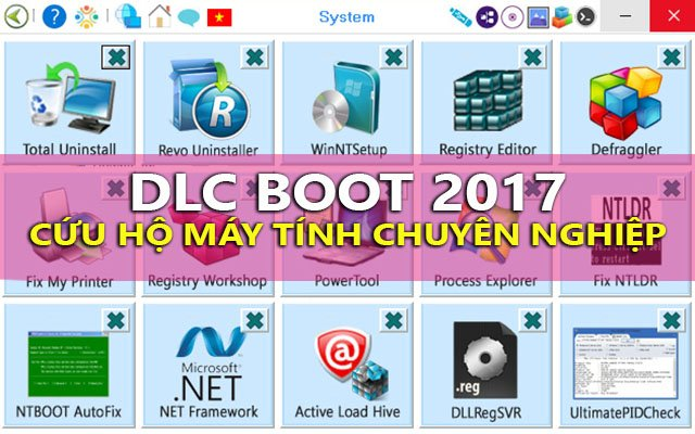 Tải DLC Boot 2017 v3.4 [15/6/2017] – USB cứu hộ máy tính chuyên nghiệp