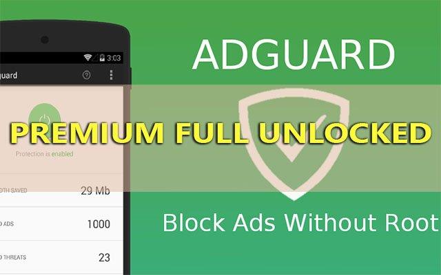adguard premium v2.9.135 apk unlocked - chan quang cao khong root