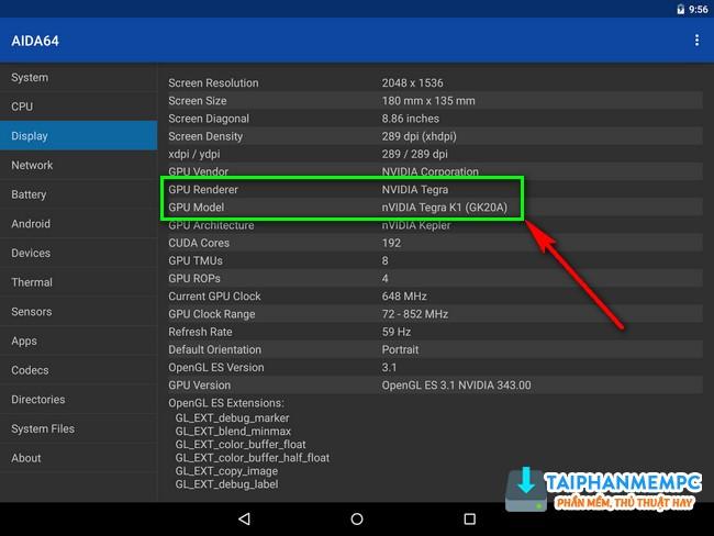 Cách nhận biết điện thoại Android sử dụng chip ARM hay x86, Tegra