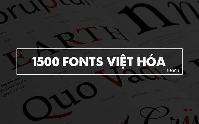 chia se hon 1500 font viet hoa dep doc cho designer