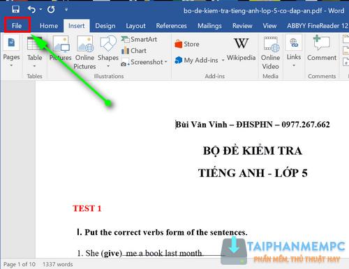 cach chuyen pdf sang word 3