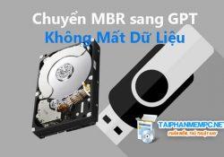 Mẹo chuyển MBR sang GPT không mất dữ liệu trên ổ cứng