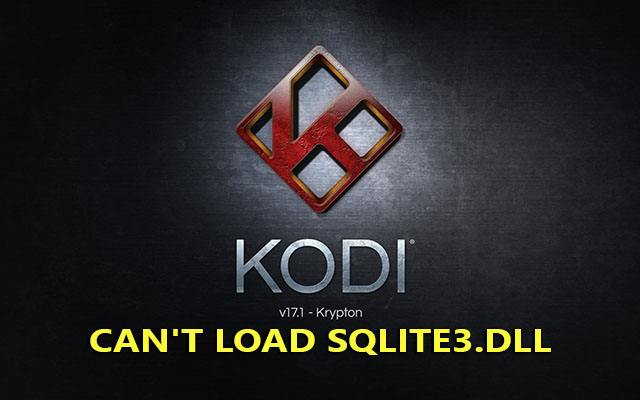 "sua loi ""sqlite3.dll"" trong kodi"
