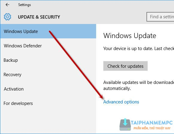 tat update windows 10, tat tu dong cap nhat windows 10 2
