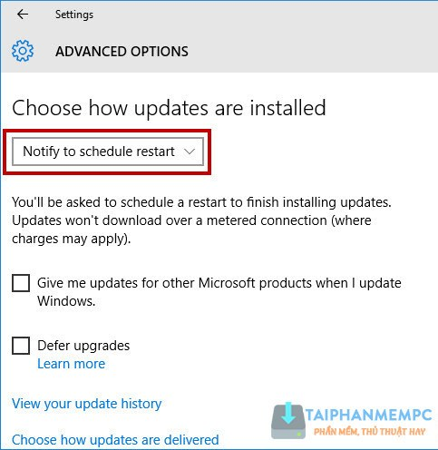 tat update windows 10, tat tu dong cap nhat windows 10 3