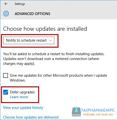 tat update windows 10, tat tu dong cap nhat windows 10 5