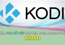 Hướng dẫn cài cài phụ đề Việt trên Kodi khi xem phim stream online