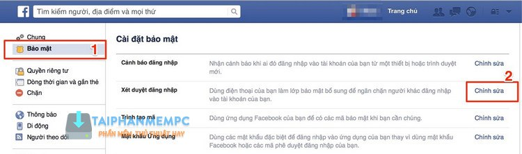 bao mat 2 lop facebook qua so dien thoai, chong bi hack fb 2