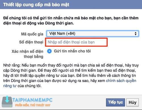 bao mat 2 lop facebook qua so dien thoai, chong bi hack fb 5