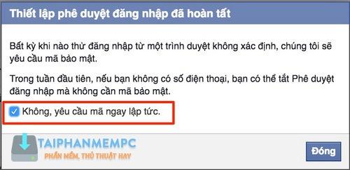 bao mat 2 lop facebook qua so dien thoai, chong bi hack fb 7