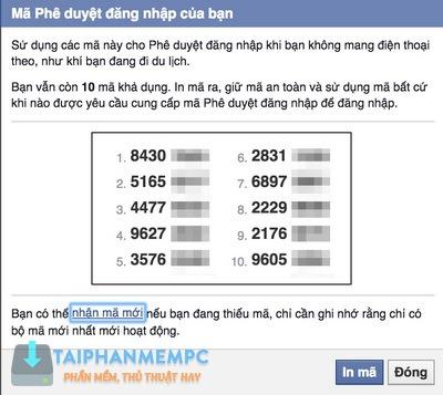 bao mat 2 lop facebook qua so dien thoai, chong bi hack fb 9