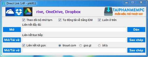 tao link tai truc tiep google drive, dropbox, onedrive 1