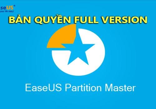 easeus partition master ban quyen