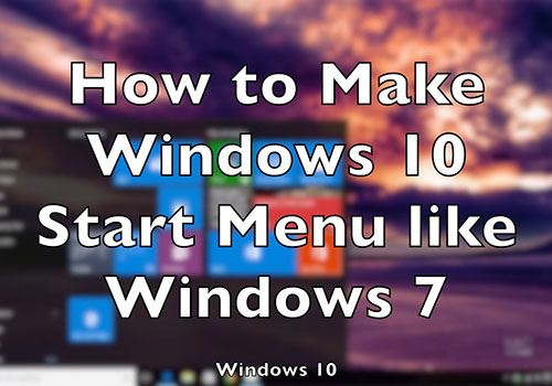cach mang nut start menu truyen thong tro lai windows 10