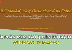 Nhanh tay nhận gói phần mềm bản quyền trị giá 315$ cho Window & MAC