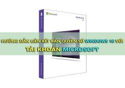 Cách liên kết bản quyền số Windows 10 với tài khoản Microsoft