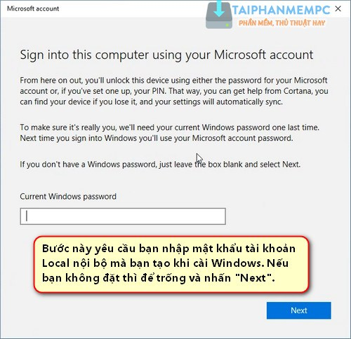 lien ket ban quyen so windows 10 voi tai khoan microsoft 6