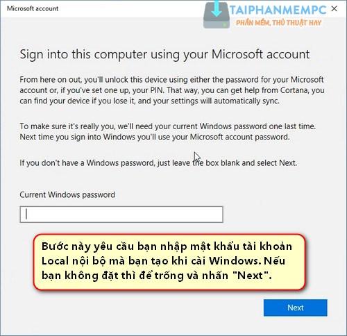 lien ket ban quyen so windows 10 voi tai khoan microsoft 6