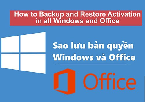 sao luu, phuc hoi ban quyen windows 10, 8, 7 & office