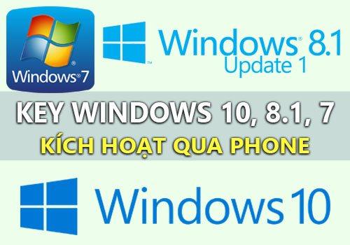 chia se key windows 10, 8, 7 kich hoat qua phone