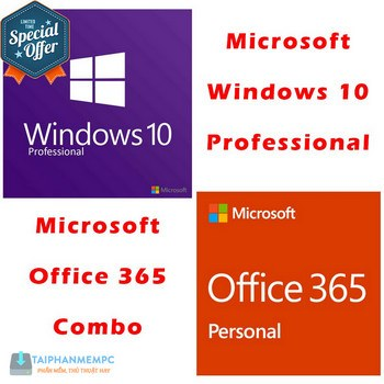 gia ban combo win 10 pro office 365