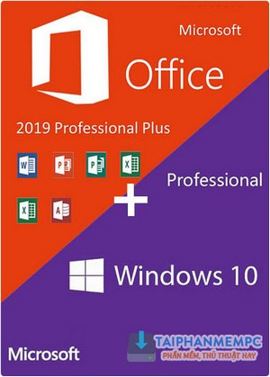 key win 10 pro office 2019 pro plus