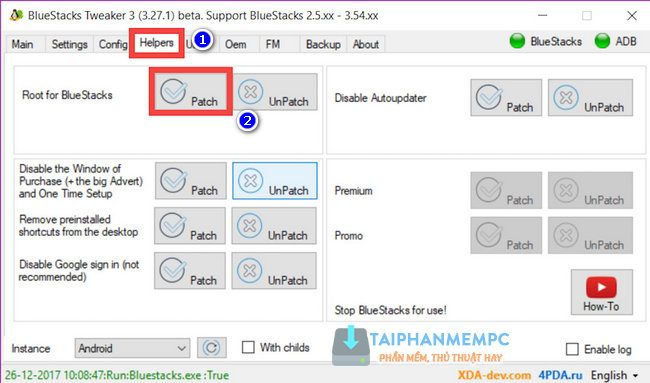 cach root bluestack 3 4