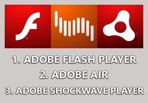 adobe flash player air shockwave player
