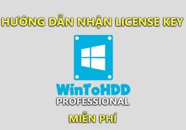 Hướng dẫn nhận WintoHDD Professional đang được tặng miễn phí