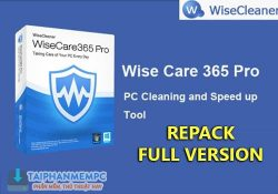 Wise Care 365 Pro 5.1.8 Build 509 F.U.L.L – Tối ưu tăng tốc Windows