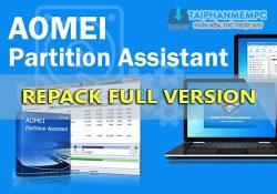 AOMEI Partition Assistant Technician 8.8 mới nhất – Phân vùng ổ cứng