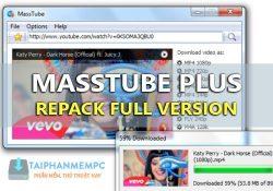 MassTube 12.9.8.350 Plus Final – Ứng dụng tải video từ Youtube hiệu quả