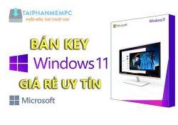 Bán key Win 11 Pro bản quyền giá rẻ chỉ 150K, bảo hành trọn đời