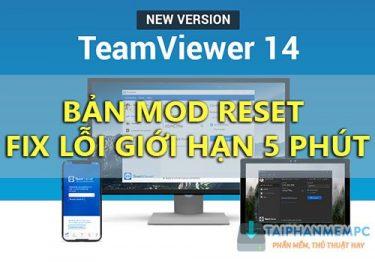 Teamviewer 14.7.1965 – Bản Mod reset không bị giới hạn thời gian kết nối