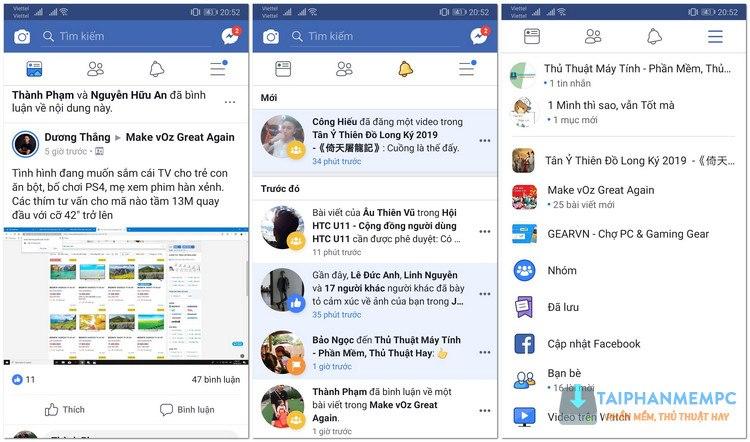 facebook mod apk tren android loai bo quang cao 1