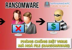 Tổng hợp cách phòng chống diệt virus mã hoá dữ liệu tống tiền