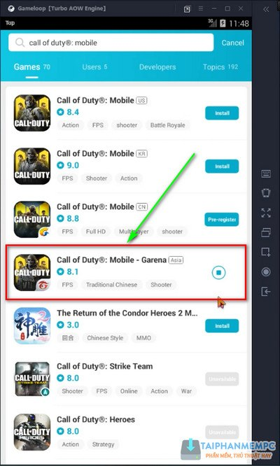 cai va choi call of duty mobile tren may tinh khong fake ip 5