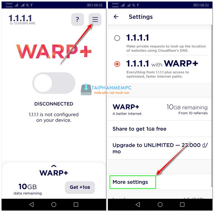 tang data warp+ 1.1.1.1 vpn 1